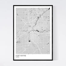 Load image into Gallery viewer, Fort Wayne City Map Print
