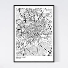 Load image into Gallery viewer, Frankfurt City Map Print
