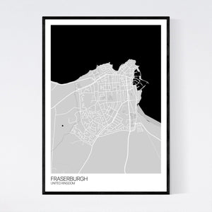 Fraserburgh City Map Print