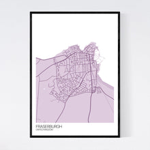 Load image into Gallery viewer, Fraserburgh City Map Print