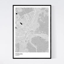 Load image into Gallery viewer, Freiburg City Map Print