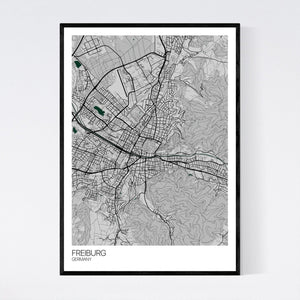 Freiburg City Map Print