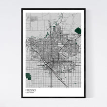 Load image into Gallery viewer, Fresno City Map Print