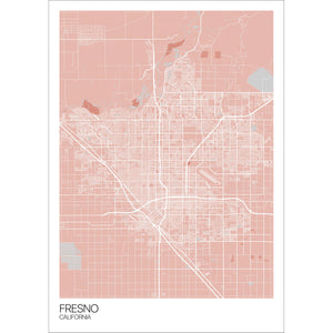 Map of Fresno, California