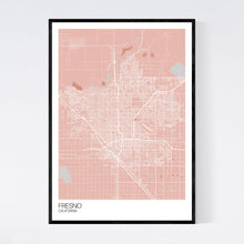 Load image into Gallery viewer, Map of Fresno, California