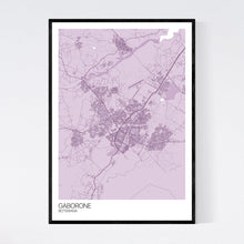 Load image into Gallery viewer, Map of Gaborone, Botswana