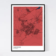 Load image into Gallery viewer, Gaborone City Map Print