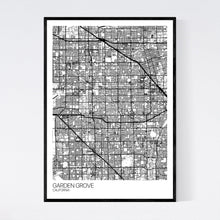 Load image into Gallery viewer, Garden Grove City Map Print