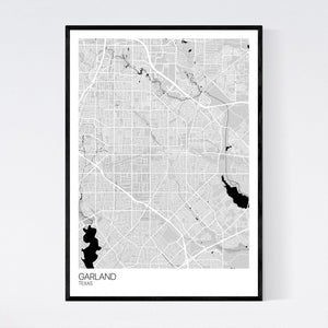 Garland City Map Print