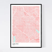 Load image into Gallery viewer, Garland City Map Print
