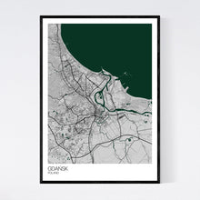 Load image into Gallery viewer, Gdańsk City Map Print