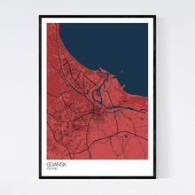 Load image into Gallery viewer, Map of Gdańsk, Poland