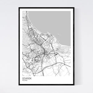Gdańsk City Map Print