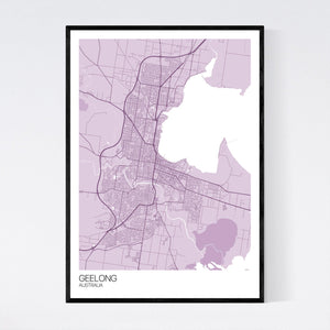 Map of Geelong, Australia