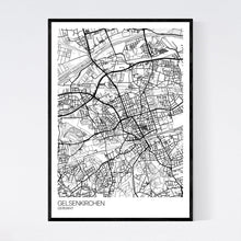 Load image into Gallery viewer, Gelsenkirchen City Map Print
