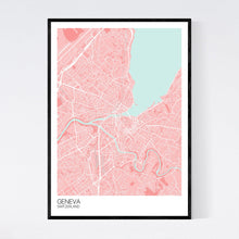 Load image into Gallery viewer, Geneva City Map Print