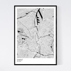 Ghent City Map Print