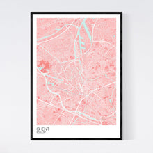 Load image into Gallery viewer, Ghent City Map Print