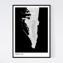 Load image into Gallery viewer, Gibraltar Region Map Print