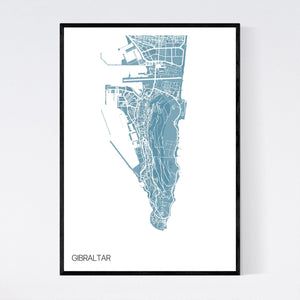 Gibraltar Region Map Print