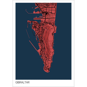 Map of Gibraltar,