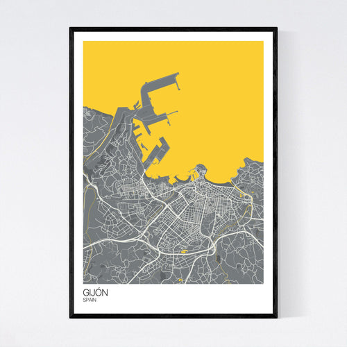Map of Gijón, Spain