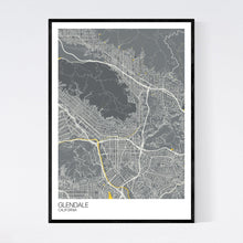 Load image into Gallery viewer, Glendale City Map Print