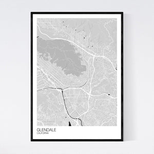Glendale City Map Print