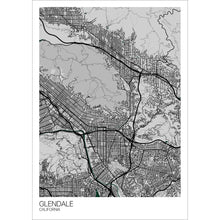 Load image into Gallery viewer, Map of Glendale, California