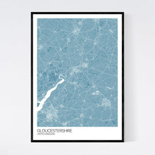Load image into Gallery viewer, Gloucestershire Region Map Print