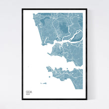 Load image into Gallery viewer, Goa Region Map Print