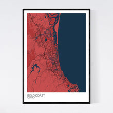 Load image into Gallery viewer, Gold Coast City Map Print