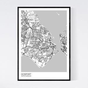 Gosport City Map Print