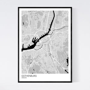Gothenburg City Map Print