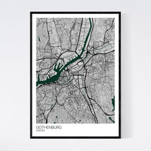 Load image into Gallery viewer, Gothenburg City Map Print