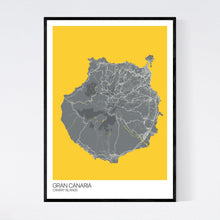 Load image into Gallery viewer, Gran Canaria Island Map Print