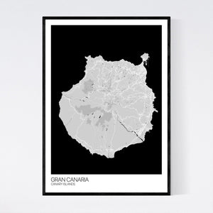 Map of Gran Canaria, Canary Islands