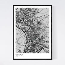 Load image into Gallery viewer, Granada City Map Print