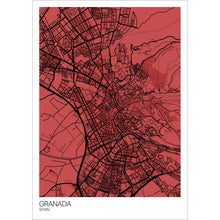 Load image into Gallery viewer, Map of Granada, Spain
