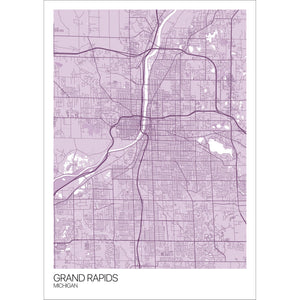 Map of Grand Rapids, Michigan