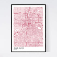 Load image into Gallery viewer, Grand Rapids City Map Print