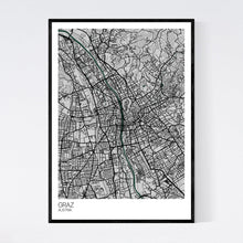 Load image into Gallery viewer, Graz City Map Print