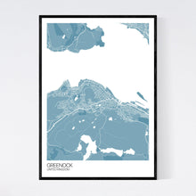 Load image into Gallery viewer, Greenock City Map Print