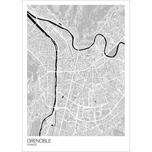 Load image into Gallery viewer, Map of Grenoble, France