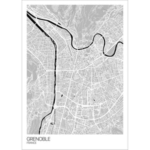 Map of Grenoble, France