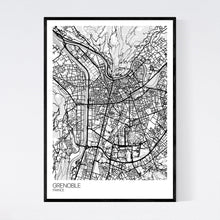 Load image into Gallery viewer, Grenoble City Map Print