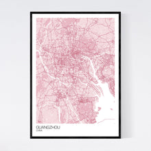 Load image into Gallery viewer, Guangzhou City Map Print