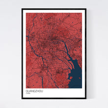Load image into Gallery viewer, Map of Guangzhou, China