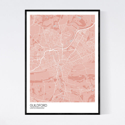 Map of Guildford, United Kingdom