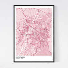 Load image into Gallery viewer, Gwangju City Map Print